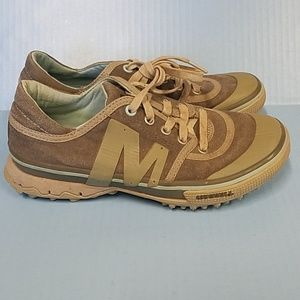 Merrell Primed Lace Olive Performance Sneakers 7